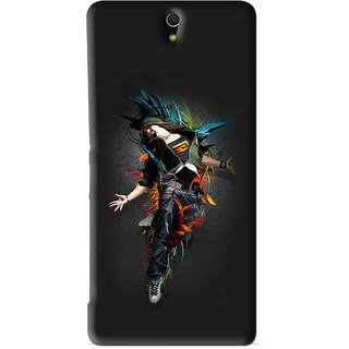 Snooky Printed Music Mania Mobile Back Cover For Sony Xperia C5 - Black