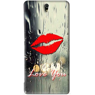 Snooky Printed Love You Mobile Back Cover For Sony Xperia C5 - Multi