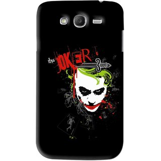 Snooky Printed The Joker Mobile Back Cover For Samsung Galaxy Grand - Black