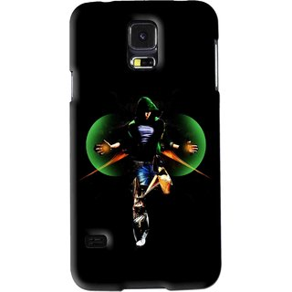 Snooky Printed Hero Mobile Back Cover For Samsung Galaxy S5 - Black