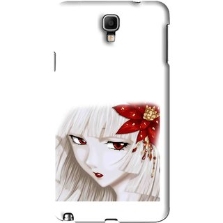 Snooky Printed Chinies Girl Mobile Back Cover For Samsung Galaxy Note 3 neo - White
