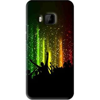 Snooky Printed Party Time Mobile Back Cover For HTC One M9 - Multi