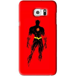 Snooky Printed Electric Man Mobile Back Cover For Samsung Galaxy S6 Edge Plus - Red
