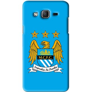 Snooky Printed Eagle Logo Mobile Back Cover For Samsung Galaxy On7 - Blue