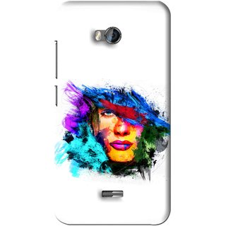 Snooky Printed Dashing Girl Mobile Back Cover For Micromax Bolt Q336 - White