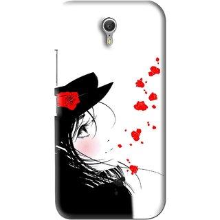 Snooky Printed Mistery Girl Mobile Back Cover For Lenovo Zuk Z1 - Black