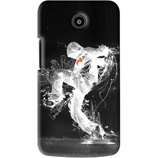 Snooky Printed Dance Mania Mobile Back Cover For Lenovo A820 - Black
