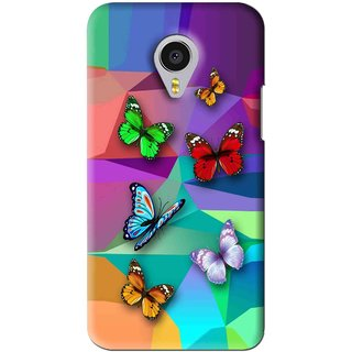 Snooky Printed Trendy Buterfly Mobile Back Cover For Meizu MX4 Pro - Multi