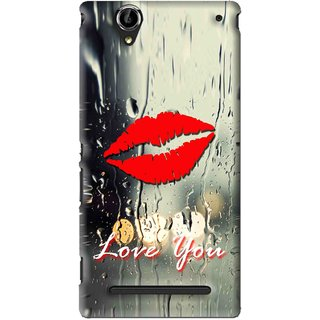 Snooky Printed Love You Mobile Back Cover For Sony Xperia T2 Ultra - Multi