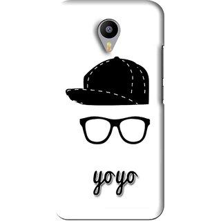 Snooky Printed Yo Yo Mobile Back Cover For Meizu M2 Note - White