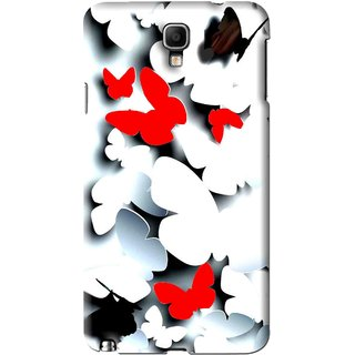 Snooky Printed Butterfly Mobile Back Cover For Samsung Galaxy Note 3 neo - Multi