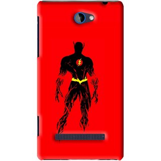 Snooky Printed Electric Man Mobile Back Cover For HTC 8S - Red