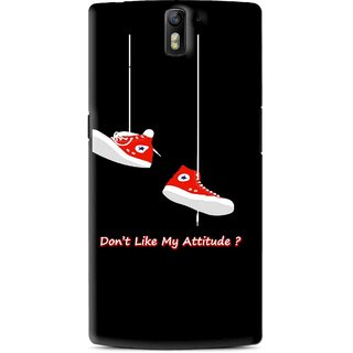 Snooky Printed Attitude Mobile Back Cover For OnePlus One - Black