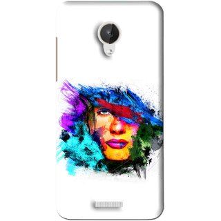 Snooky Printed Dashing Girl Mobile Back Cover For Micromax Canvas Spark Q380 - White