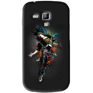 Snooky Printed Music Mania Mobile Back Cover For Samsung Galaxy S Duos S7562 - Black