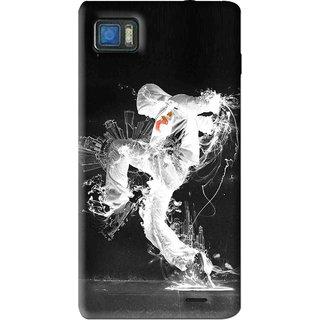 Snooky Printed Dance Mania Mobile Back Cover For Lenovo K860 - Black