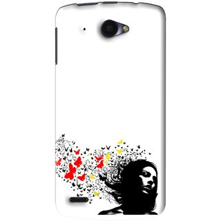 wholesale dealer f7e2b c8da7 Snooky Printed Butterfly Girl Mobile Back Cover For Lenovo S920 - White