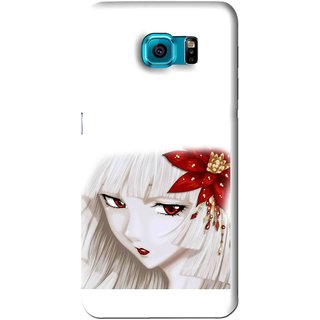 Snooky Printed Chinies Girl Mobile Back Cover For Samsung Galaxy S6 Edge - White