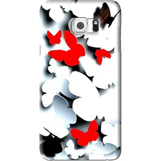 Snooky Printed Butterfly Mobile Back Cover For Samsung Galaxy Note 5 - Multi