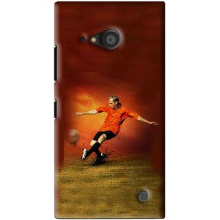 Snooky Printed Football Mania Mobile Back Cover For Microsoft Lumia 735 - Brown
