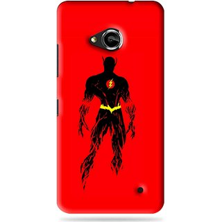 Snooky Printed Electric Man Mobile Back Cover For Microsoft Lumia 550 - Red