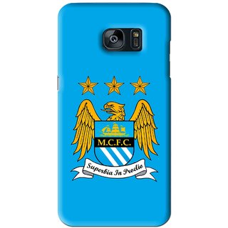 Snooky Printed Eagle Logo Mobile Back Cover For Samsung Galaxy S7 - Blue