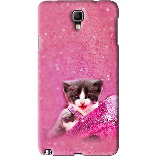 Buy Snooky Printed Pink Cat Mobile Back Cover For Samsung Galaxy Note 3 neo - Pink Online - Get 77% Off