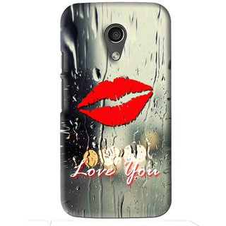 Snooky Printed Love You Mobile Back Cover For Moto G2 - Multi