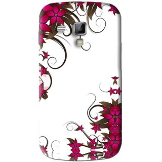 Snooky Printed Flower Creep Mobile Back Cover For Samsung Galaxy S Duos S7562 - Pink
