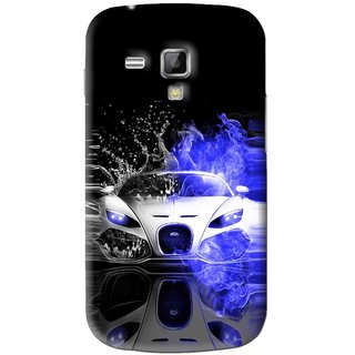 Snooky Printed Super Car Mobile Back Cover For Samsung Galaxy S Duos S7562 - Black