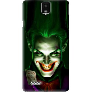 Snooky Printed Loughing Joker Mobile Back Cover For Infocus M330 - Green