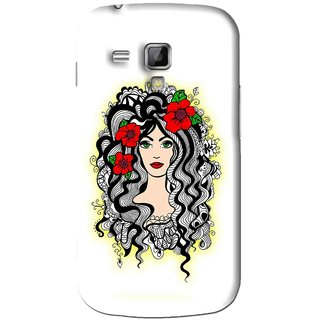 Snooky Printed Tarro Girl Mobile Back Cover For Samsung Galaxy S Duos S7562 - White