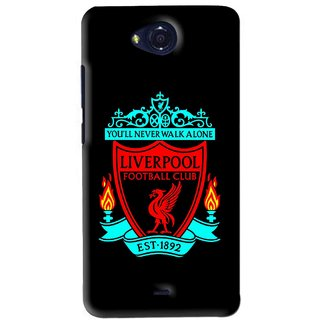 Snooky Printed Football Club Mobile Back Cover For Micromax Canvas Play - Black