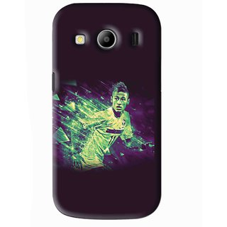 Snooky Printed Running Boy Mobile Back Cover For Samsung Galaxy Ace 4 - Blue