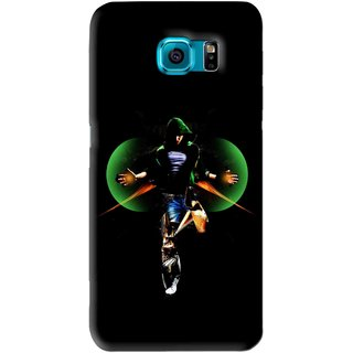 Snooky Printed Hero Mobile Back Cover For Samsung Galaxy S6 Edge - Black