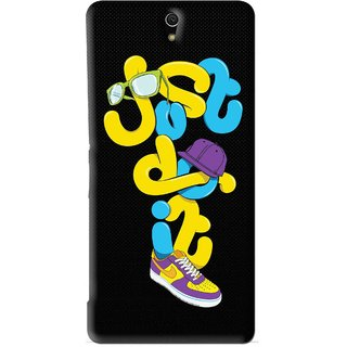 Snooky Printed Just Do it Mobile Back Cover For Sony Xperia C5 - Black