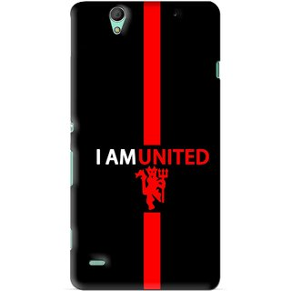 Snooky Printed United Mobile Back Cover For Sony Xperia C4 - Black