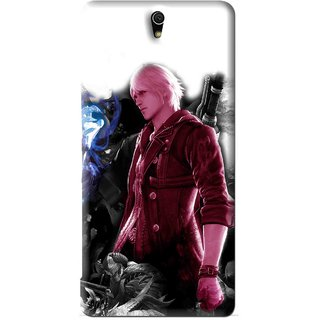 Snooky Printed Fighter Boy Mobile Back Cover For Sony Xperia C5 - White
