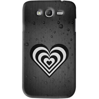 Snooky Printed Hypro Heart Mobile Back Cover For Samsung Galaxy Grand 2 - Black