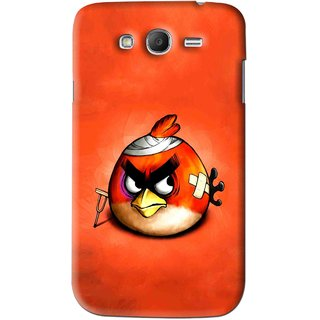 Snooky Printed Wouded Bird Mobile Back Cover For Samsung Galaxy Grand 2 - Red