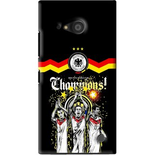 Snooky Printed Champions Mobile Back Cover For Microsoft Lumia 735 - Black