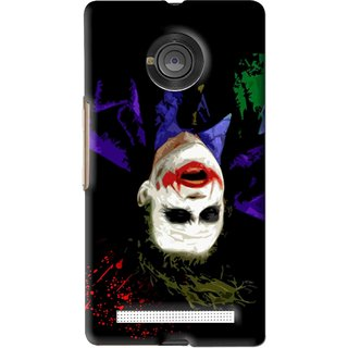 Snooky Printed Hanging Joker Mobile Back Cover For Micromax Yu Yuphoria - Black