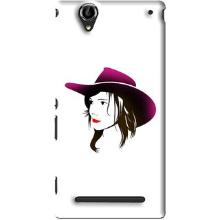 Snooky Printed Tom Boy Mobile Back Cover For Sony Xperia T2 Ultra - White