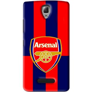 Snooky Printed Sports Logo Mobile Back Cover For Lenovo A2010 - Red