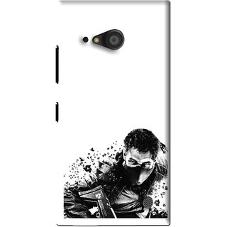 Snooky Printed Commando Mobile Back Cover For Microsoft Lumia 735 - White