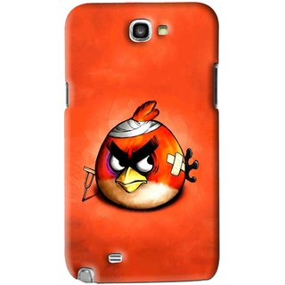 Snooky Printed Wouded Bird Mobile Back Cover For Samsung Galaxy Note 2 - Red