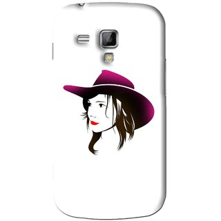 Snooky Printed Tom Boy Mobile Back Cover For Samsung Galaxy S Duos S7562 - White