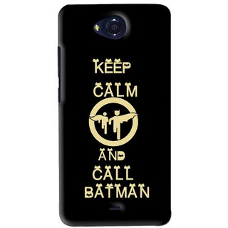 Snooky Printed Keep Calm Mobile Back Cover For Micromax Canvas Play - Black