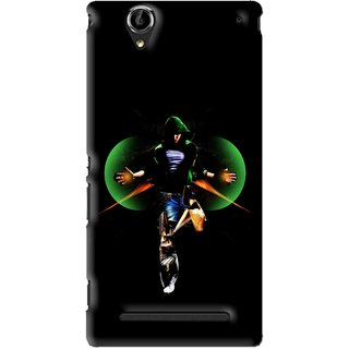 Snooky Printed Hero Mobile Back Cover For Sony Xperia T2 Ultra - Black