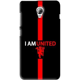 Snooky Printed United Mobile Back Cover For Lenovo Vibe P1 - Black